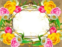 Mini Photo frame - Beloved in flowers