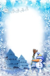 Mini Photo frame - Blue fairy tale