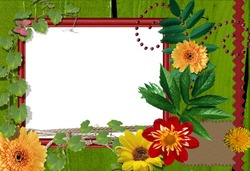Mini Photo frame - Bright flowers