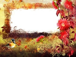 Mini Photo frame - Bright colors of autumn