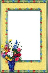 Mini Photo frame - Bunch of flowers