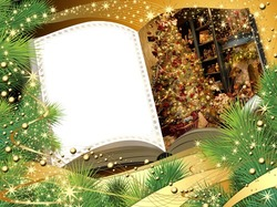 Mini Photo frame - Christmas book