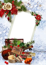 Mini Photo frame - Christmas melody