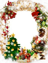 Mini Photo frame - Christmas wreath