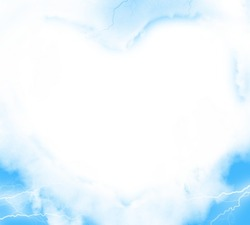 Mini Photo frame - Heart made from clouds