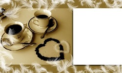Mini Photo frame - Coffee for couple