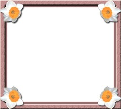 Mini Photo frame - Flowers in the corner