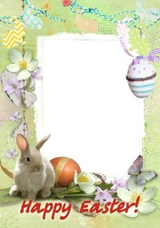 Mini Photo frame - Cute Easter Bunny