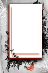 Mini Photo frame - Delicate butterflies