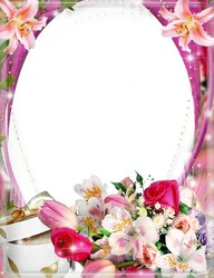 Mini Photo frame - Delightful lilies