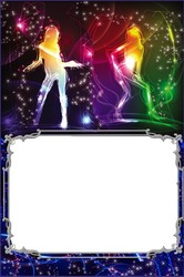 Mini Photo frame - Disco dance