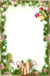 Mini Photo frame - Dragons hurry to congratulate you