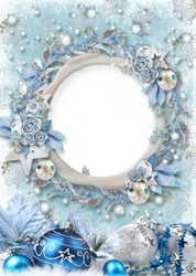 Mini Photo frame - Extraordinary Christmas wreath