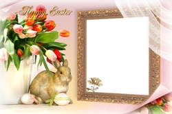 Mini Photo frame - Family Easter