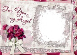 Mini Photo frame - For you my angel