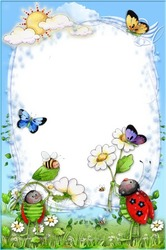 Mini Photo frame - Funny bees