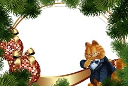 Mini Photo frame - Garfield's New year