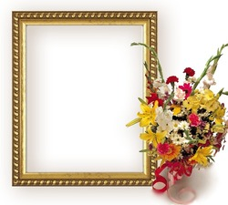 Mini Photo frame - Bouquet  of flowers