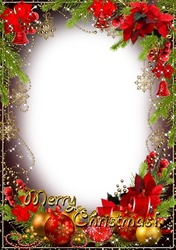 Mini Photo frame - Gold shine of Christmas holiday