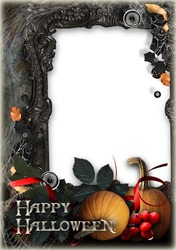 Mini Photo frame - Halloween in the old castle