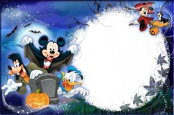 Mini Photo frame - Halloween with Mickey and friends
