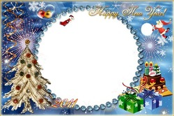 Mini Photo frame - Happy new year and merry Christmas