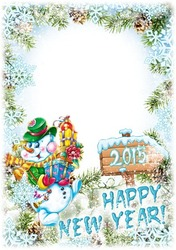 Mini Photo frame - Happy New Year from the snowman
