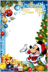 Mini Photo frame - Happy New year with Mickey