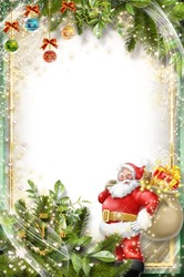 Mini Photo frame - Happy Santa