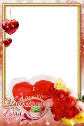 Mini Photo frame - Happy Valentines day to you