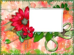 Mini Photo frame - Heavenly flowers