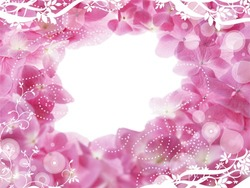 Mini Photo frame - Hole in pink flowers