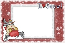 Mini Photo frame - I love snow