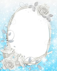 Mini Photo frame - Frozen roses
