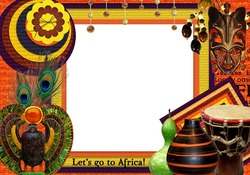 Mini Photo frame - Let's go to Africa
