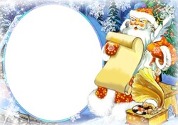 Mini Photo frame - Letter of Santa
