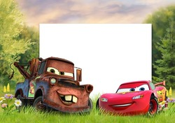 Mini Photo frame - Lightning McQueen ready to start