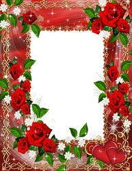 Mini Photo frame - Love in roses