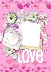 Mini Photo frame - Love is in the air