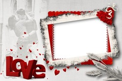 Mini Photo frame - Madness of red love
