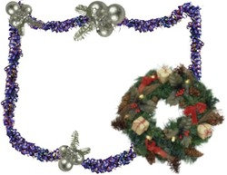 Mini Photo frame - Xmas wreath for you
