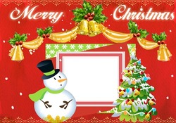 Mini Cadre photo - Merry Christmas card