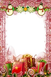 Mini Photo frame - Merry happy Christmas