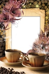 Mini Photo frame - Morning coffe