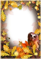 Mini Photo frame - Mysteries of the autumn forest