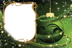 Mini Photo frame - New year in green