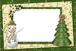 Mini Photo frame - New year green madness