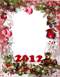 Mini Photo frame - New year and Christmas 2012