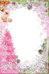 Mini Photo frame - New year in pink style