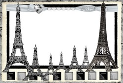 Mini Photo frame - Paris